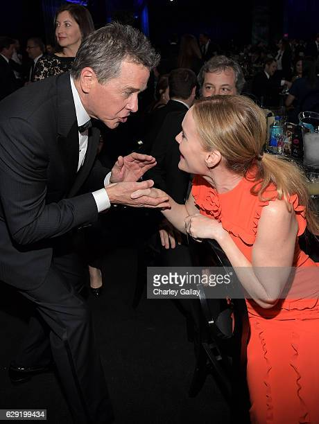 Actors Tim Matheson and Leslie Mann at the 22nd Annual Critics' Choice Awards presented by FIJI Water at Barker Hangar on December 11 2016 in Santa...