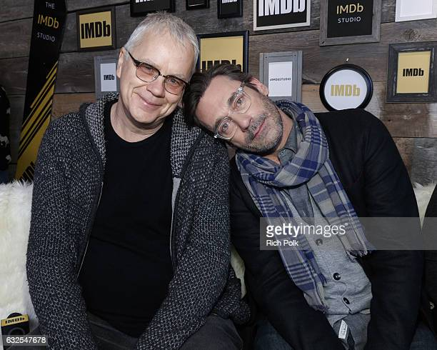 Actors Tim Robbins and Jon Hamm of 'Marjorie Prime' attend The IMDb Studio featuring the Filmmaker Discovery Lounge presented by Amazon Video Direct...