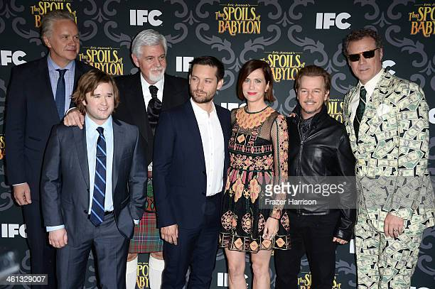 Actors Tim Robbins Haley Joel Osment Steve Tom Tobey Maguire Kristen Wiig David Spade and Will Ferrell attend the screening of IFC's 'The Spoils Of...