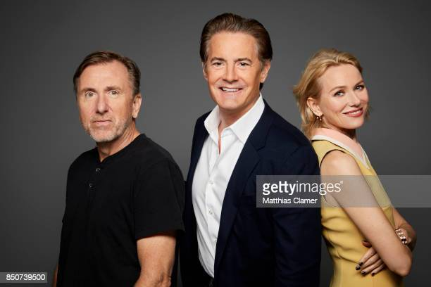 Actors Tim Roth Kyle MacLachlan and Naomi Watts from Twin Peaks are photographed for Entertainment Weekly Magazine on July 21 2017 at Comic Con in...