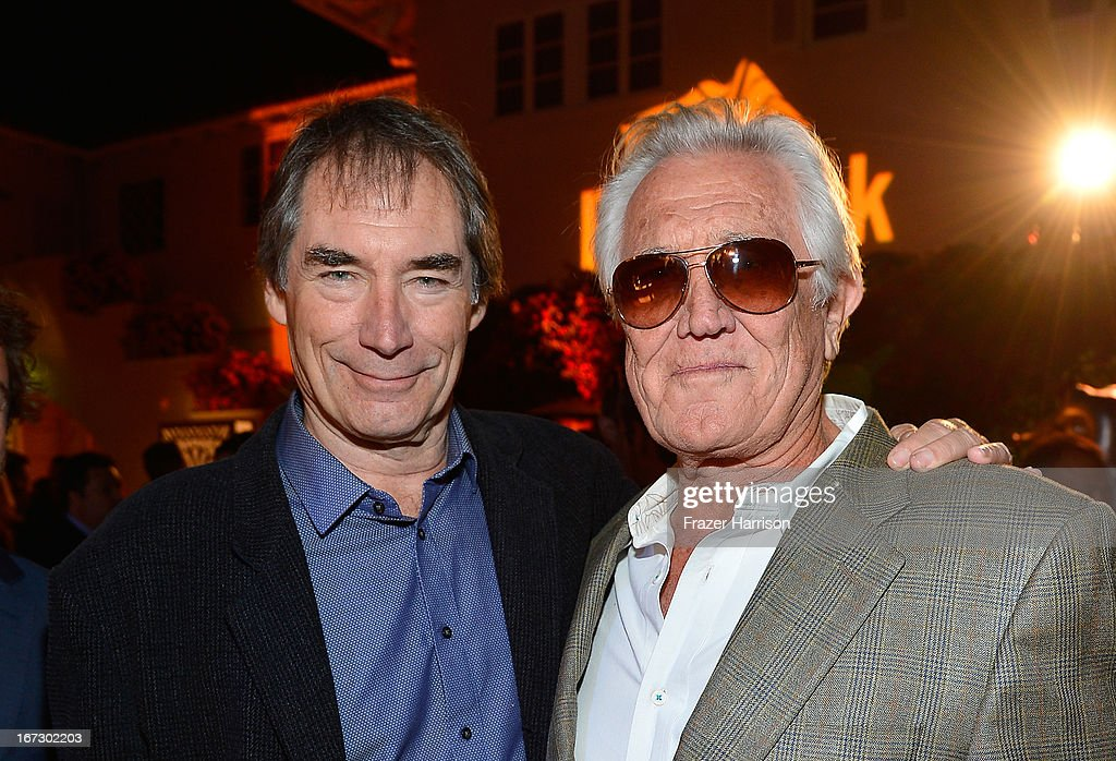 Actors <a gi-track='captionPersonalityLinkClicked' href=/galleries/search?phrase=Timothy+Dalton&family=editorial&specificpeople=655259 ng-click='$event.stopPropagation()'>Timothy Dalton</a> (L) and <a gi-track='captionPersonalityLinkClicked' href=/galleries/search?phrase=George+Lazenby&family=editorial&specificpeople=228936 ng-click='$event.stopPropagation()'>George Lazenby</a> attend the launch of the Seventh Annual BritWeek Festival 'A Salute To Old Hollywood' on April 23, 2013 in Los Angeles, California.