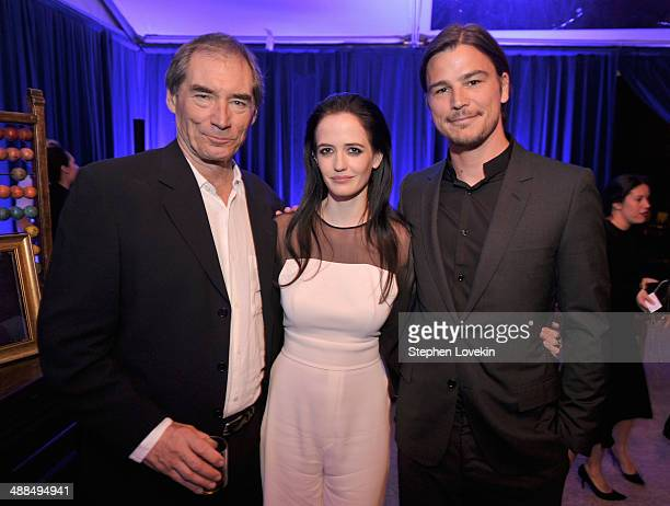 Actors Timothy Dalton Eva Green and Josh Hartnett attend Showtime's 'PENNY DREADFUL' world premiere at The High Line Hotel on May 6 2014 in New York...