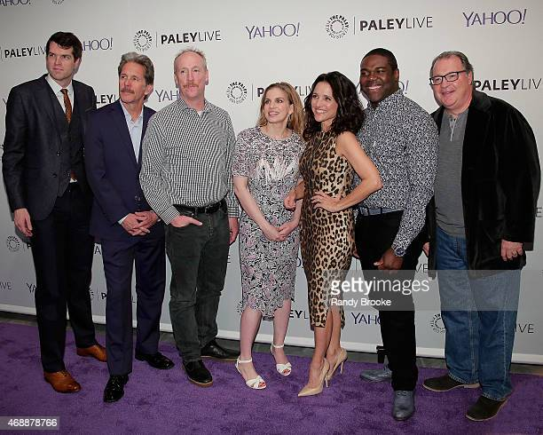 Actors Timothy Simmons Gary Cole Matt Walsh Anna Chlumsky Julia LouisDreyfus Sam Richardson and Kevin Dunn at Paley Center For Media on April 7 2015...