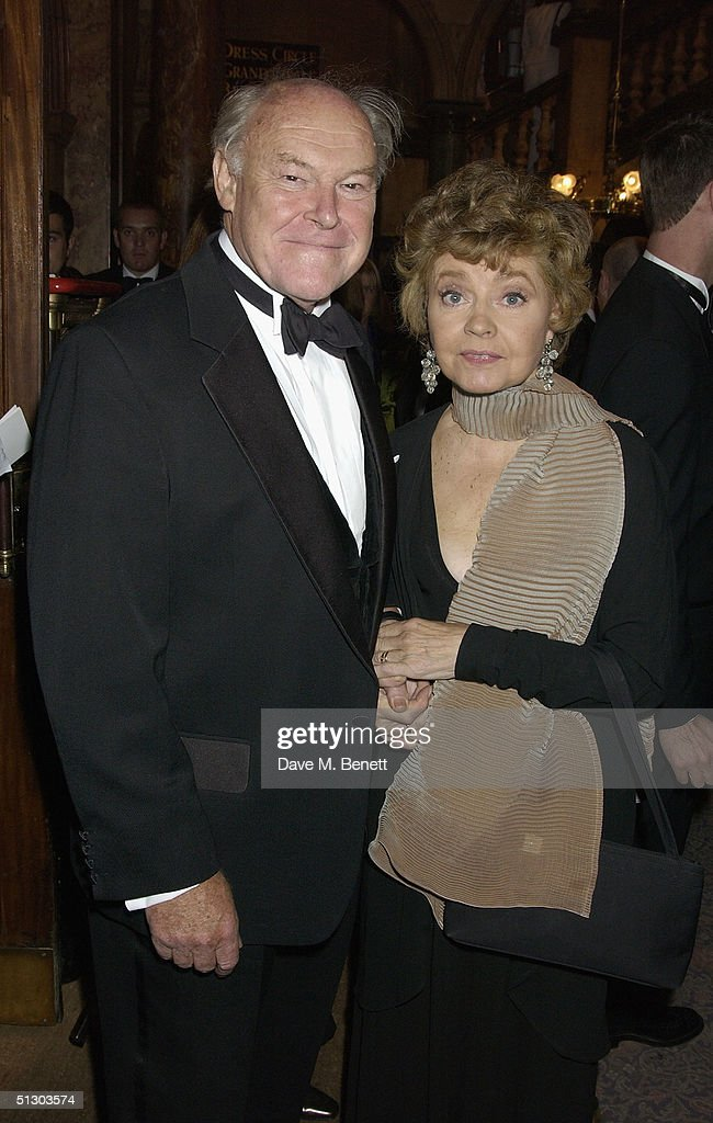 Actors Timothy West and wife Prunella Scales attend the Royal Gala Premiere of Lord Andrew Lloyd Webber's new musical 'The Woman In White' at the Palace Theatre, Shaftesbury Avenue on September 13, 2004 in London.