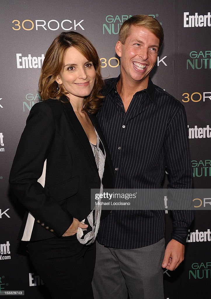 Actors Tina Fey and Jack McBrayer attend Entertainment Weekly and NBC's celebration of the final season of 30 Rock sponsored by Garnier Nutrisse on October 3, 2012 in New York City.