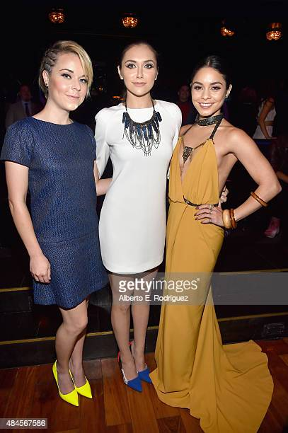Actors Tina Majorino Alyson Stoner and Vanessa Hudgens attend the 2015 Industry Dance Awards and Cancer Benefit Show at Avalon on August 19 2015 in...