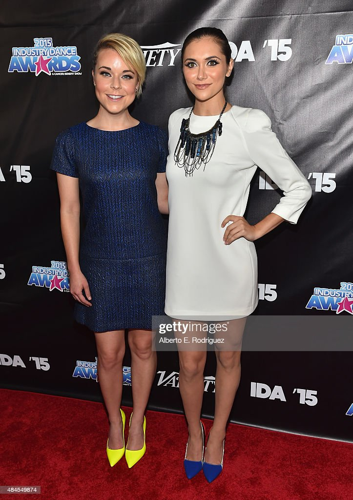 Actors Tina Majorino and Alyson Stoner attend the 2015 Industry Dance Awards and Cancer Benefit Show at Avalon on August 19 2015 in Hollywood...