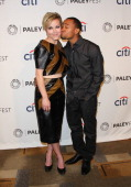 Actors Tina Majorino and Percy Daggs III attend the 2014 PaleyFest presentation of 'Veronica Mars' at the Dolby Theatre on March 13 2014 in Hollywood...