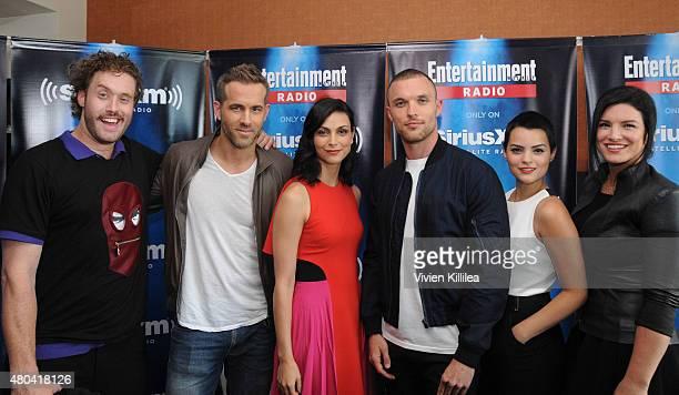 Actors TJ Miller Ryan Reynolds Morena Baccarin Ed Skrein Brianna Hildebrand and Gina Carano attend SiriusXM's Entertainment Weekly Radio Channel...