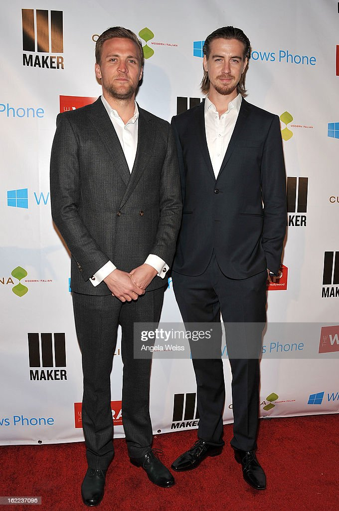 Actors Tobias Santelmann and Pal Sverre Hagen arrive at TheWrap 4th Annual Pre-Oscar Party at Four Seasons Hotel Los Angeles at Beverly Hills on February 20, 2013 in Beverly Hills, California.