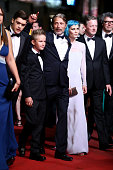 Actors Toke Lars Bjarke Mads Mikkelsen singer Nanna Oland Fabricius aka Oh Land and Douglas Henshall attend the 'The Salvation' premiere during the...