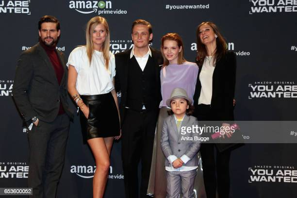 Actors Tom Beck Toni Garrn Matthias Schweighoefer Karoline Herfurth Alexandra Maria Lara and Franz Hagn attend the premiere of the series 'You are...
