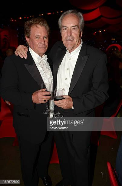 Actors Tom Berenger and Powers Boothe the 64th Annual Primetime Emmy Awards Governors Ball at Nokia Theatre LA Live on September 23 2012 in Los...