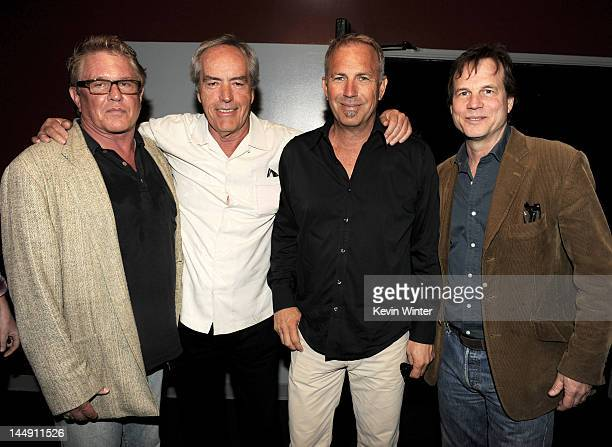 Actors Tom Berenger Powers Boothe Kevin Costner and Bill Paxton pose at a screening of The History Channel's 'Hatfields McCoys' at the Aero Theater...