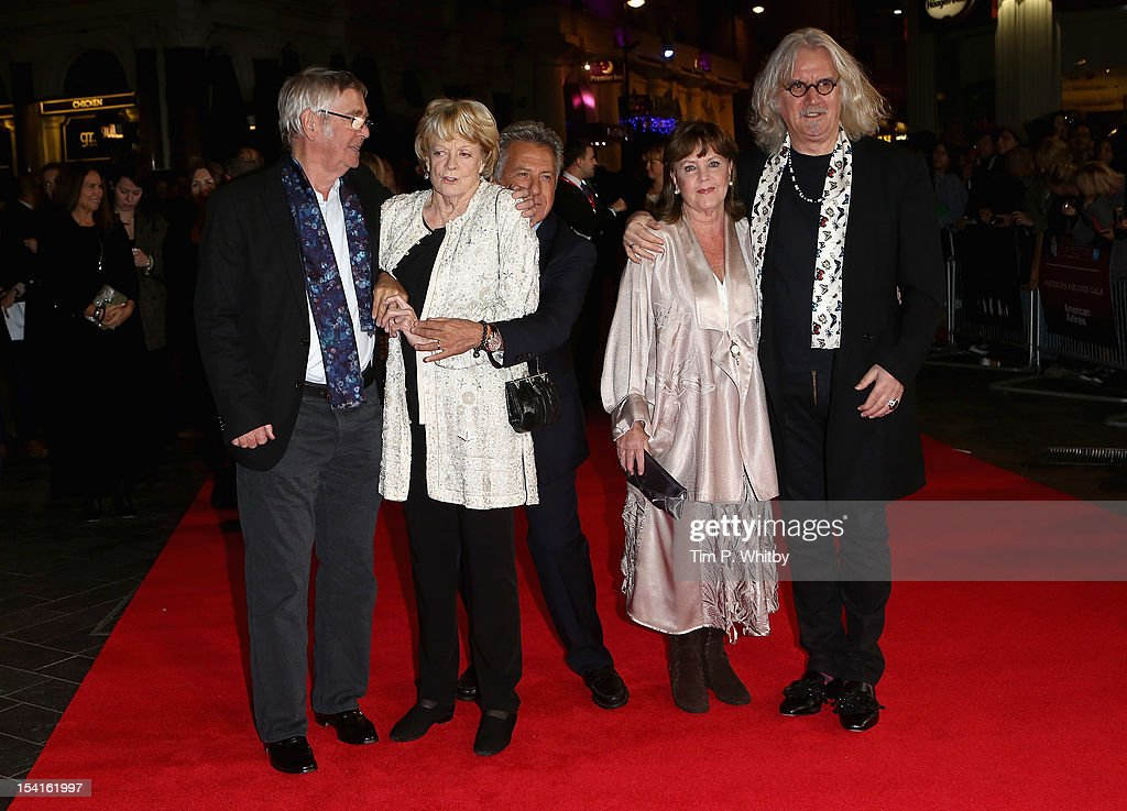 Actors Tom Courtenay, Maggie Smith, director Dustin Hoffman, actress Pauline Collins and actor Billy Connolly attend the 'Quartet' premiere during the 56th BFI London Film Festival at the Odeon Leicester Square on October 15, 2012 in London, England.
