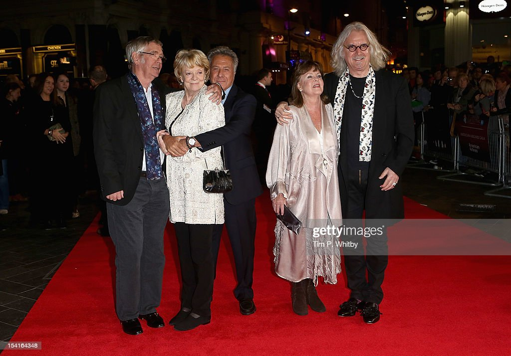 Actors <a gi-track='captionPersonalityLinkClicked' href=/galleries/search?phrase=Tom+Courtenay&family=editorial&specificpeople=699230 ng-click='$event.stopPropagation()'>Tom Courtenay</a>, <a gi-track='captionPersonalityLinkClicked' href=/galleries/search?phrase=Maggie+Smith&family=editorial&specificpeople=206821 ng-click='$event.stopPropagation()'>Maggie Smith</a>, director <a gi-track='captionPersonalityLinkClicked' href=/galleries/search?phrase=Dustin+Hoffman&family=editorial&specificpeople=171356 ng-click='$event.stopPropagation()'>Dustin Hoffman</a>, actress Pauline Collins and actor <a gi-track='captionPersonalityLinkClicked' href=/galleries/search?phrase=Billy+Connolly&family=editorial&specificpeople=208248 ng-click='$event.stopPropagation()'>Billy Connolly</a> attend the 'Quartet' premiere during the 56th BFI London Film Festival at the Odeon Leicester Square on October 15, 2012 in London, England.