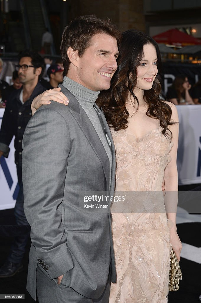 Actors Tom Cruise and Andrea Riseborough arrive at the premiere of Universal Pictures' 'Oblivion' at Dolby Theatre on April 10, 2013 in Hollywood, California.