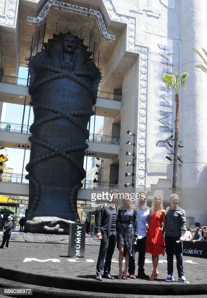 Actors Tom Cruise Sofia Boutella Jake Johnson Annabelle Wallis and director Alex Kurtzman attend Universal Pictures 'The Mummy Day' With 75Foot...