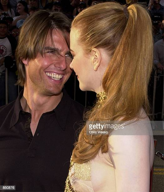 Actors Tom Cruise who stars in the film and Nicole Kidman arrive at the premiere of 'Mission Impossible 2' May 18 2000 at the Chinese Theater in...