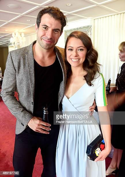 Actors Tom Cullen and Tatiana Maslany attend the 2015 BAFTA Los Angeles TV Tea at SLS Hotel on September 19 2015 in Beverly Hills California