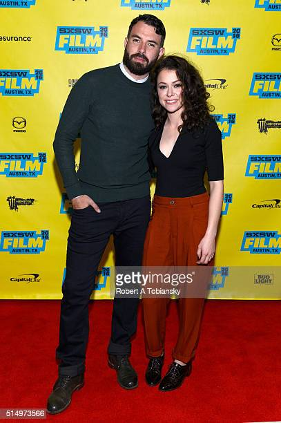 Actors Tom Cullen and Tatiana Maslany attend the premiere of 'The Other Half' during the 2016 SXSW Music Film Interactive Festival at Vimeo on March...