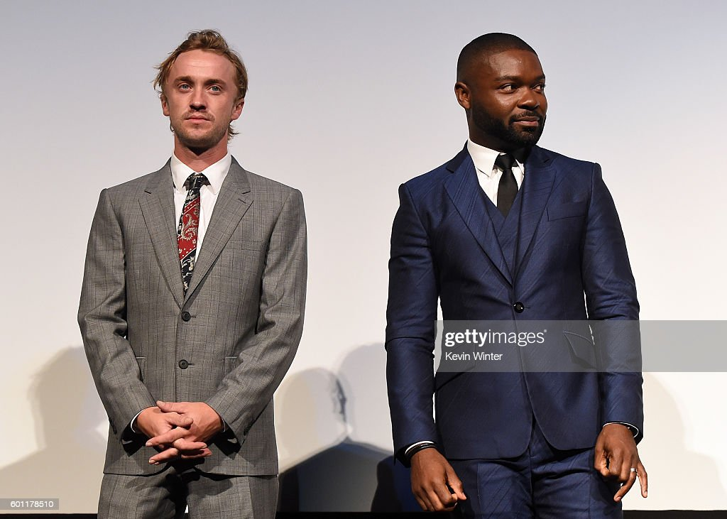 actors-tom-felton-and-david-oyelowo-attend-the-a-united-kingdom-the-picture-id601178510