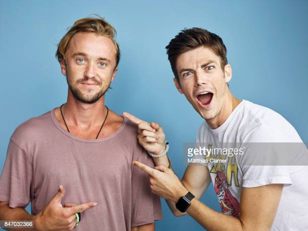 Actors Tom Felton and Grant Gustin from 'The Flash' are photographed for Entertainment Weekly Magazine on July 23 2016 at Comic Con in the Hard Rock...