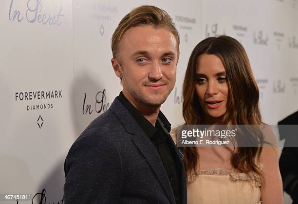 Actors Tom Felton and Jade Gordon arrive to the Los Angeles premiere of Roadside Attractions and LD Entertainment's 'In Secret' presented by...