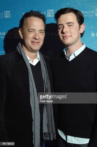 Actors Tom Hanks and Colin Hanks attend 'The Great Buck Howard' After Party at Pierpont Place during the 2008 Sundance Film Festival on January 18...