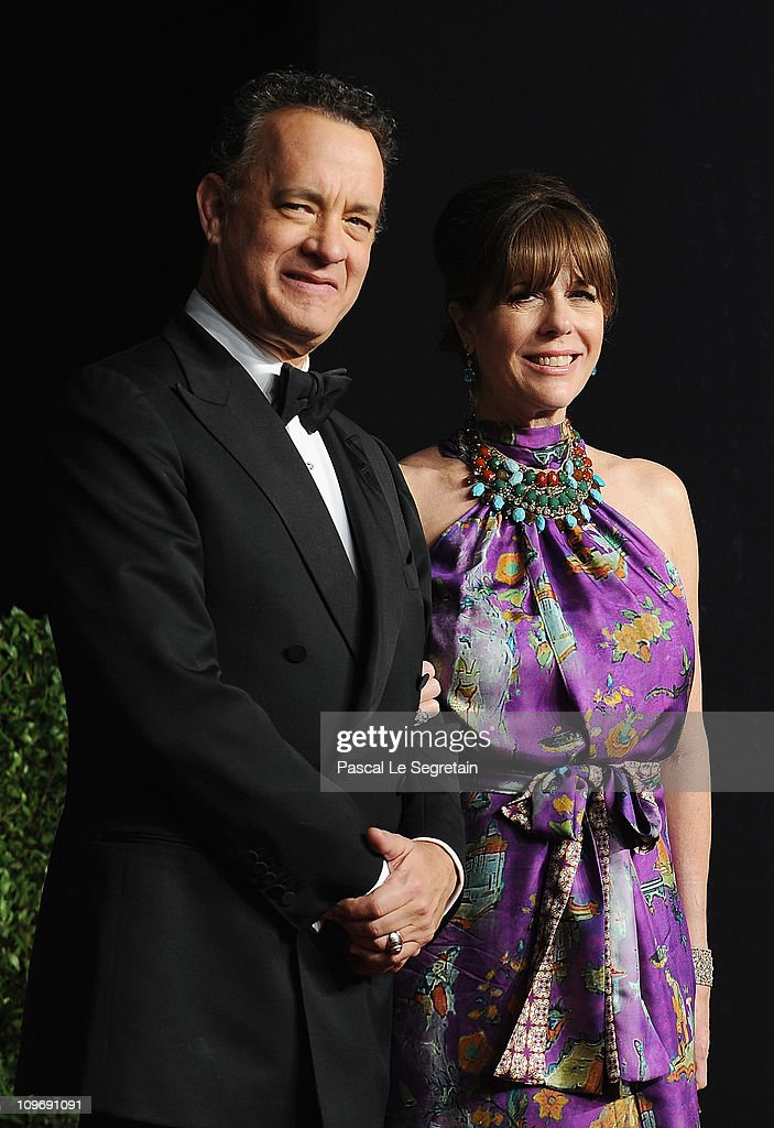 Actors <a gi-track='captionPersonalityLinkClicked' href=/galleries/search?phrase=Tom+Hanks&family=editorial&specificpeople=201790 ng-click='$event.stopPropagation()'>Tom Hanks</a> and <a gi-track='captionPersonalityLinkClicked' href=/galleries/search?phrase=Rita+Wilson&family=editorial&specificpeople=202642 ng-click='$event.stopPropagation()'>Rita Wilson</a> arrive at the Vanity Fair Oscar party hosted by Graydon Carter held at Sunset Tower on February 27, 2011 in West Hollywood, California.