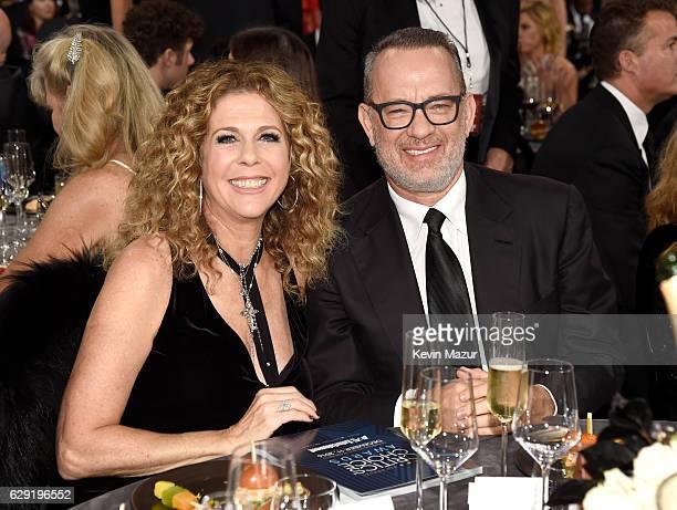 Actors Tom Hanks and Rita Wilson attends The 22nd Annual Critics' Choice Awards at Barker Hangar on December 11 2016 in Santa Monica California