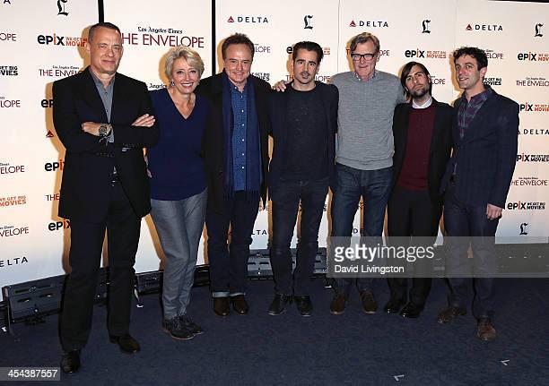 Actors Tom Hanks Emma Thompson Bradley Whitford and Colin Farrell director John Lee Hancock and actors Jason Schwartzman and BJ Novak attend the LA...