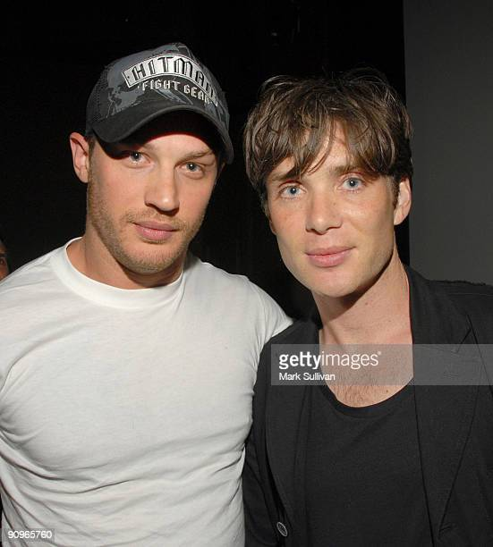 Actors Tom Hardy and Cillian Murphy at a special screening of Magnet Releasing's 'Bronson' at Silent Movie Theatre on September 18 2009 in Los...