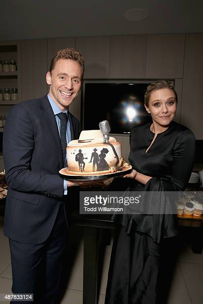 Actors Tom Hiddleston and Elizabeth Olsen attend Sony Pictures Classics after party for 'I Saw The Light' sponsored by Lacoste and Ciroc at The...