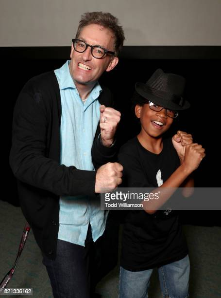 Actors Tom Kenny and Andre Robinson attend the 'Niko and the Sword of Light' panel during San Diego ComicCon International 2017 at the San Diego...