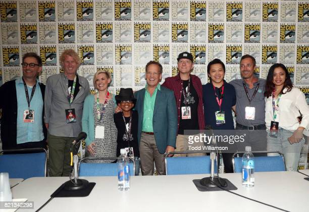 Actors Tom Kenny Rob Hoegee Kari Wahlgren Andre Robinson Dee Bradley Baker cofounder of Studio NX Jim Bryson executive producer Bobby Chiu cofounder...