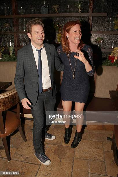 Actors Tom Lenk and Elisa Donovan attend SPARKLE an AllStar Holiday Concert to benefit The Actors Fund At Rockwell Table Stage on December 11 2014 in...