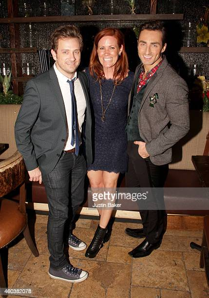 Actors Tom Lenk Elisa Donovan and host Scott Nevins attend SPARKLE an AllStar Holiday Concert to benefit The Actors Fund At Rockwell Table Stage on...