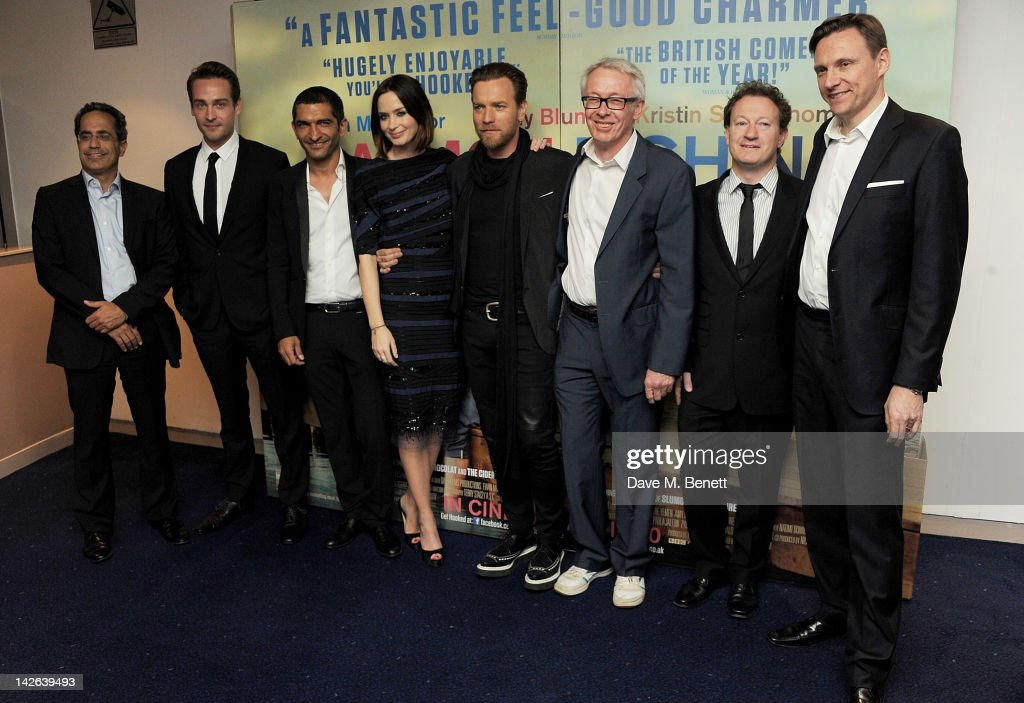 Actors Tom Mison Amr Waked Emily Blunt Ewan McGregor producer Paul Webster screenwriter Simon Beaufoy and CoFounder and Chief Executive of Lionsgate...