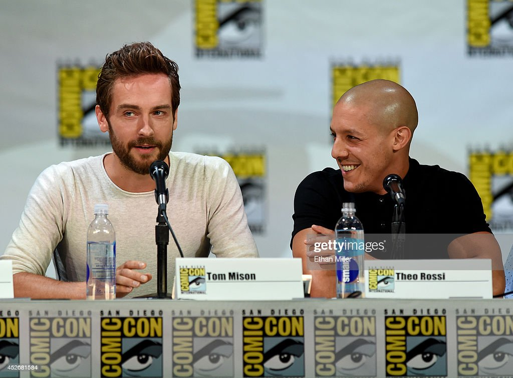 Actors Tom Mison (L) and Theo Rossi attend the Entertainment Weekly: Brave New Warriors panel during Comic-Con International 2014 at the San Diego Convention Center on July 25, 2014 in San Diego, California.
