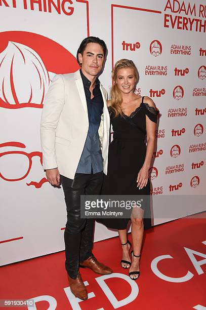 Actors Tom Sandoval and Ariana Madix attend the screening and reception for truTV's 'Adam Ruins Everything' at The Library at The Redbury on August...
