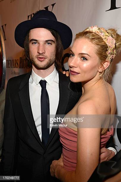 Actors Tom Sturridge and Sienna Miller attend The 67th Annual Tony Awards at Radio City Music Hall on June 9 2013 in New York City