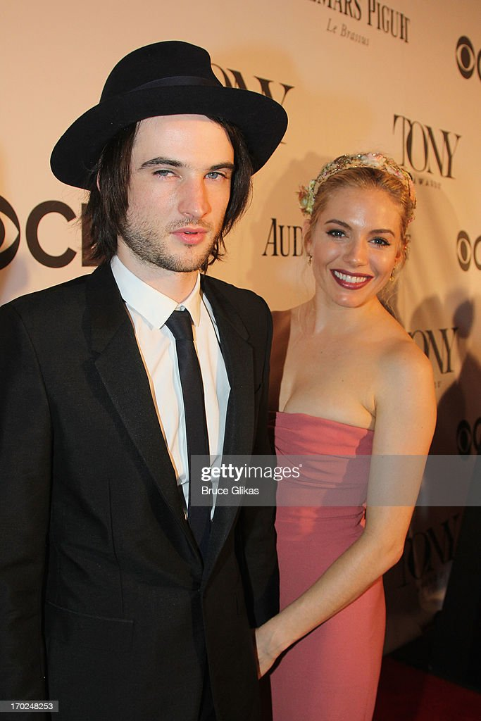 Actors <a gi-track='captionPersonalityLinkClicked' href=/galleries/search?phrase=Tom+Sturridge&family=editorial&specificpeople=2666406 ng-click='$event.stopPropagation()'>Tom Sturridge</a> and <a gi-track='captionPersonalityLinkClicked' href=/galleries/search?phrase=Sienna+Miller&family=editorial&specificpeople=171883 ng-click='$event.stopPropagation()'>Sienna Miller</a> attends the 67th Annual Tony Awards at Radio City Music Hall on June 9, 2013 in New York City.