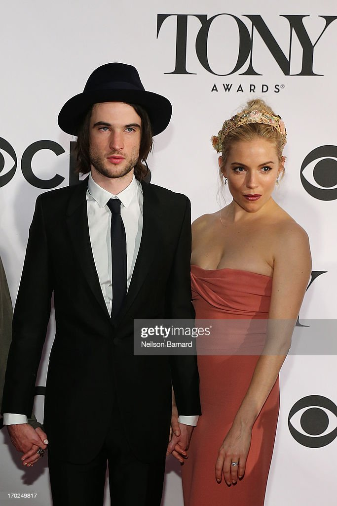Actors Tom Sturridge and Sienna Miller attends the 67th Annual Tony Awards at Radio City Music Hall on June 9, 2013 in New York City.
