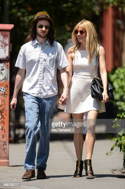 Actors Tom Sturridge and Sienna Miller walk in the West Village on May 31 2013 in New York City