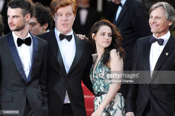 Actors Tom Sturridge Danny Morgan Kristen Stewart and Viggo Mortensen attend the 'On The Road' Premiere during the 65th Annual Cannes Film Festival...