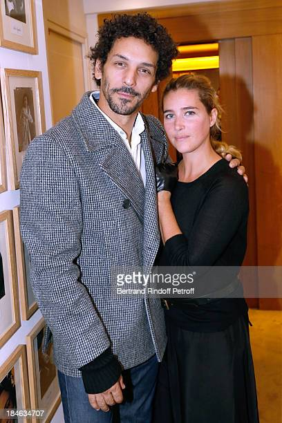 Actors Tomer Sisley and Vahina Giocante attend Boucheron Hosts Hiroshi Sugimoto Exhibition Celebration at Place Vendome Boucheron shop on October 14...