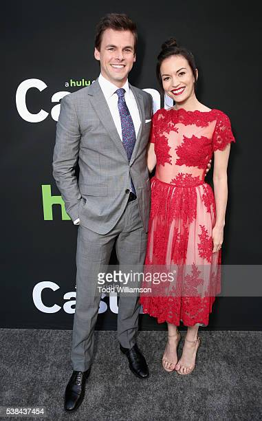 Actors Tommy Dewey and Britt Lower attend the 'Casual' Season 2 premiere and FYC event at ArcLight Hollywood on June 6 2016 in Los Angeles California