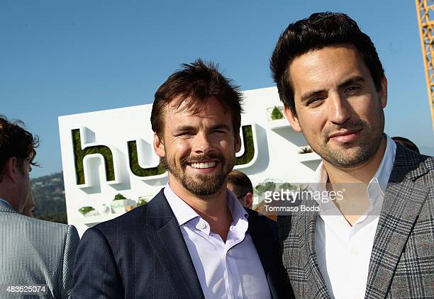 Actors Tommy Dewey and Ed Weeks attend the Hulu 2015 Summer TCA Presentation at The Beverly Hilton Hotel on August 9 2015 in Beverly Hills California