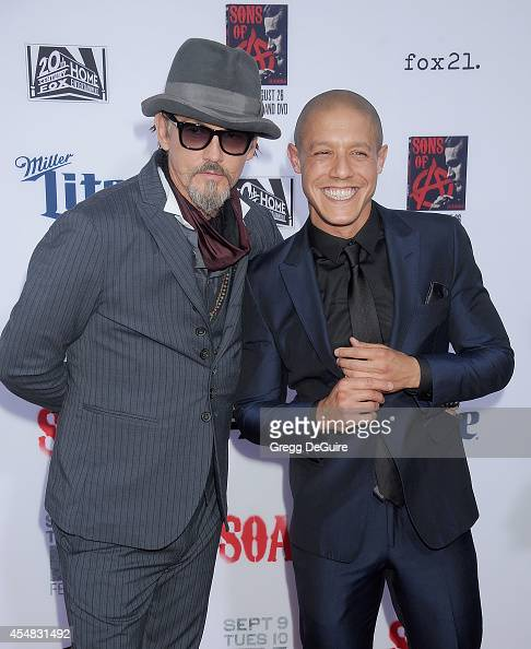 Actors Tommy Flanagan and Theo Rossi arrive at FX's 'Sons Of Anarchy' premiere at TCL Chinese Theatre on September 6 2014 in Hollywood California